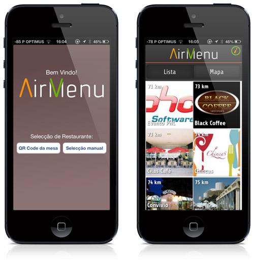 air menu app