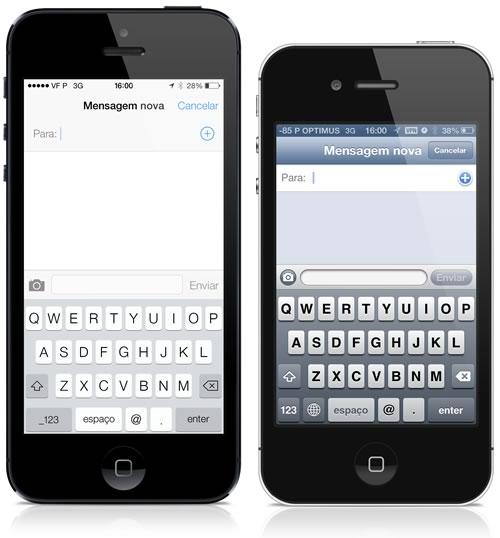 Enviar mensagens no iOS 7 e no iOS 6