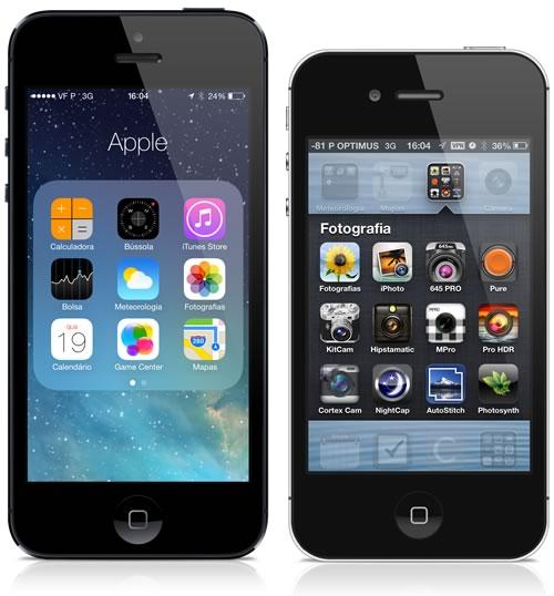 Pastas no iOS 7 e no iOS 6