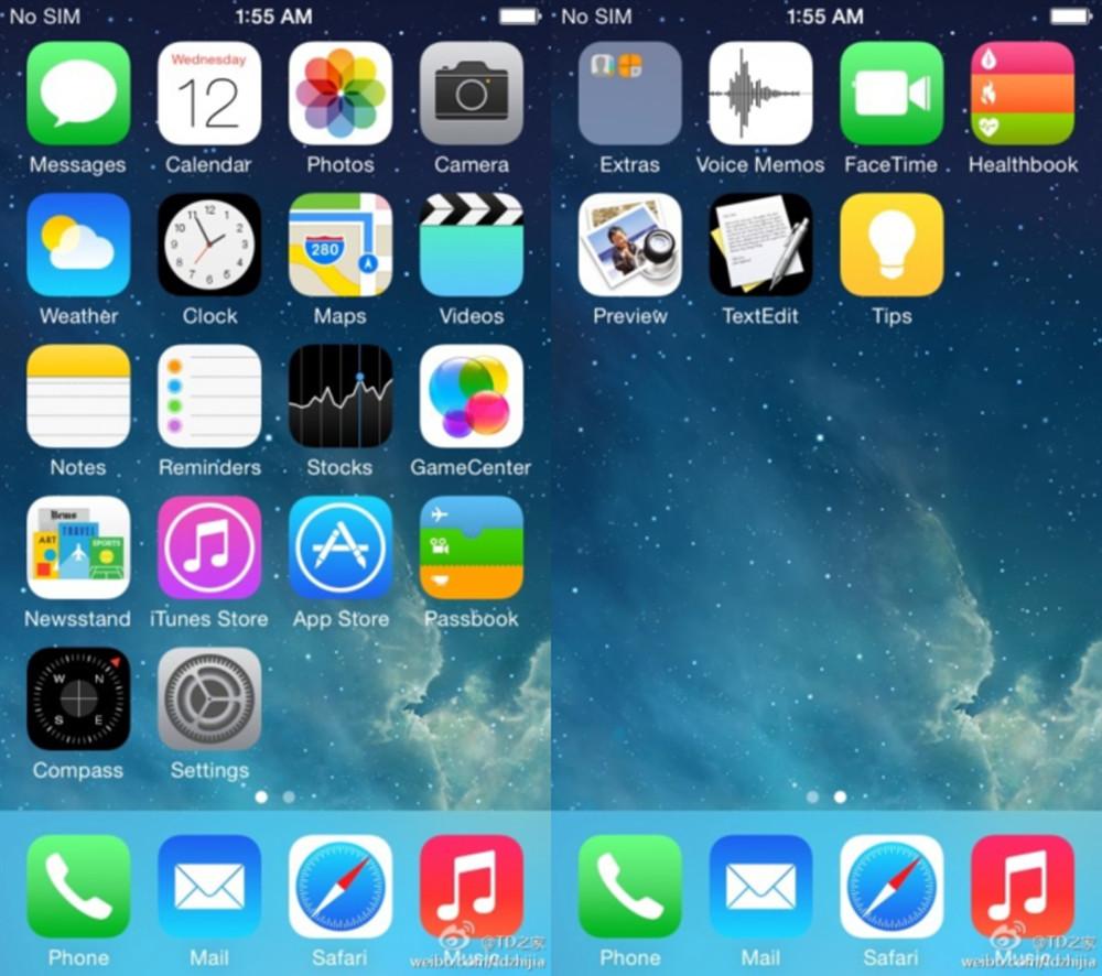 Esta é alegadamente a imagem do iOS 8 partilhada na rede social Weibo.