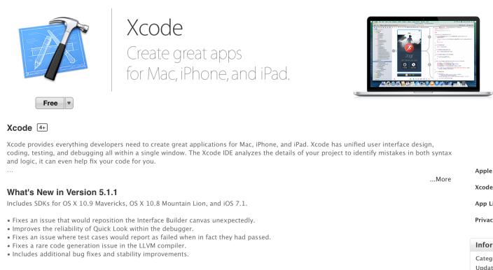 Xcode 5.1.1