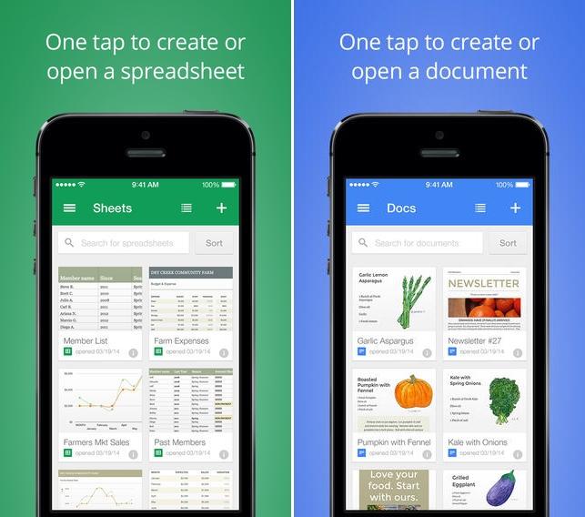 Documentos Google e Folhas de Cálculo