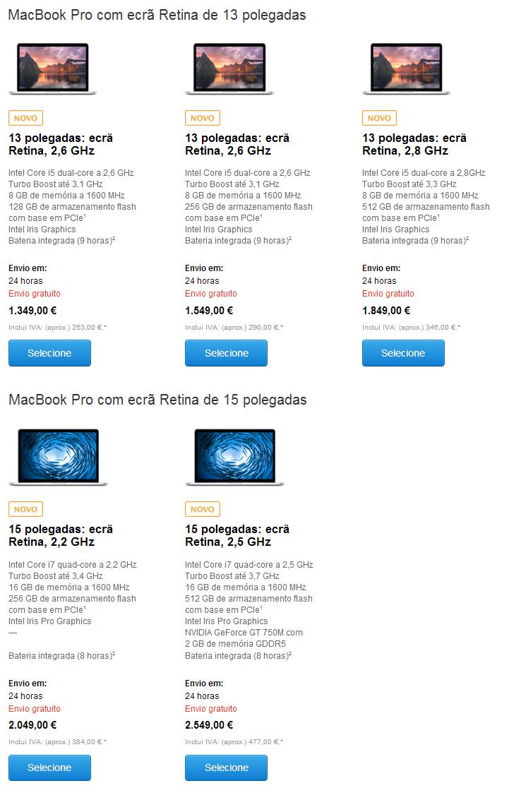 MacBooks Retina