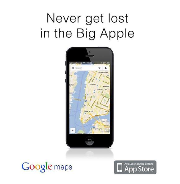 Google Maps ad