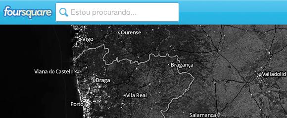 foursquare mapa chek-in