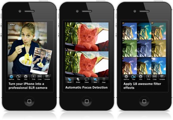 BIG LENS app screens