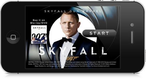 Skyfall Gun Barrel app 2