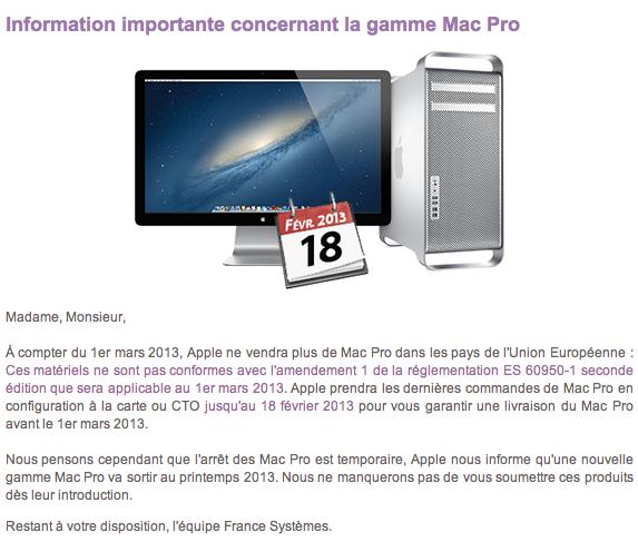 macpro newsletter