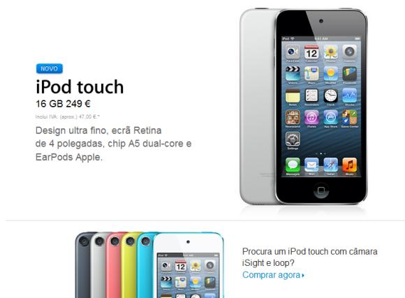 iPod touch 5 geração 16GB.