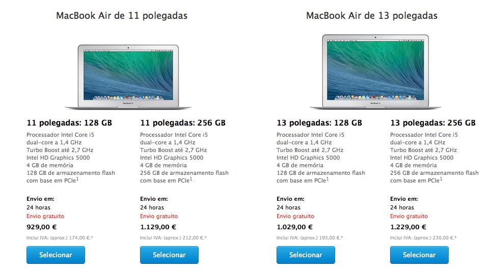 Macbook Air Abril 2014