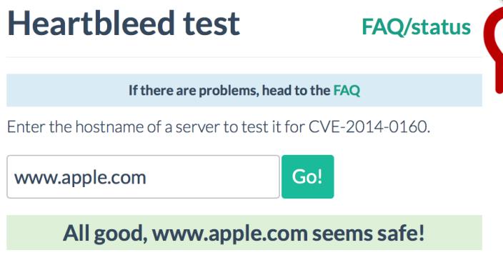 Heartbleed apple.com