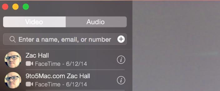 Separação de chamadas FaceTime por Audio e Vídeo